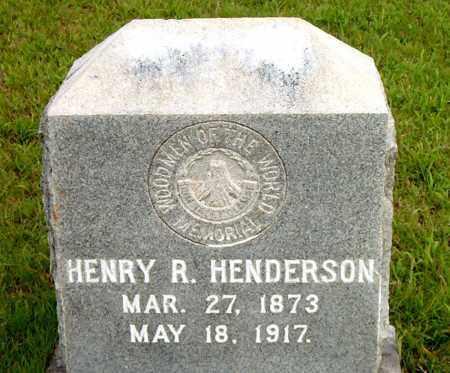 HENDERSON, HENRY  R. - Boone County, Arkansas | HENRY  R. HENDERSON - Arkansas Gravestone Photos