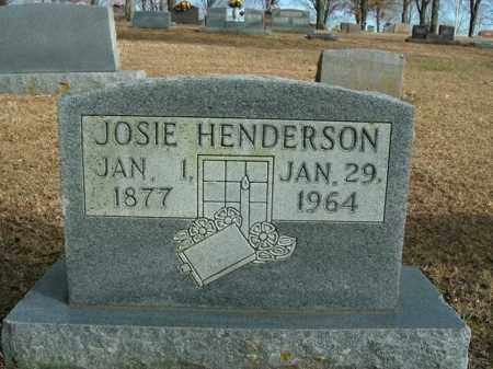 HENDERSON, JOSIE - Boone County, Arkansas | JOSIE HENDERSON - Arkansas Gravestone Photos