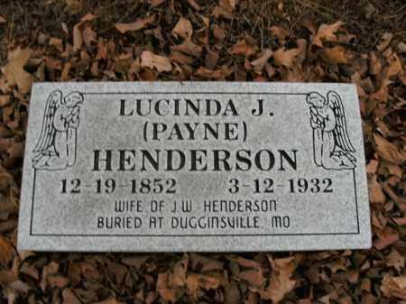 HENDERSON, LUCINDA J. - Boone County, Arkansas | LUCINDA J. HENDERSON - Arkansas Gravestone Photos