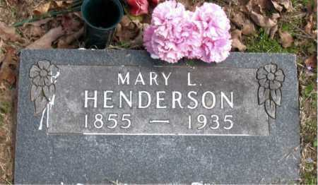 HENDERSON, MARY  L - Boone County, Arkansas | MARY  L HENDERSON - Arkansas Gravestone Photos