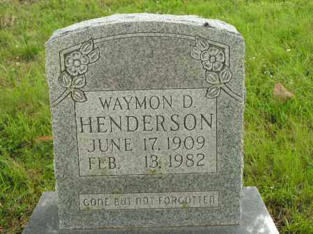HENDERSON, WAYMON D. - Boone County, Arkansas | WAYMON D. HENDERSON - Arkansas Gravestone Photos