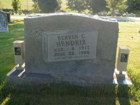 HENDRIX, BERVIN C. - Boone County, Arkansas | BERVIN C. HENDRIX - Arkansas Gravestone Photos