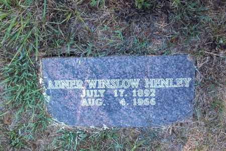 HENLEY, ABNER WINSLOW - Boone County, Arkansas | ABNER WINSLOW HENLEY - Arkansas Gravestone Photos