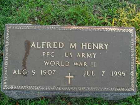 HENRY  (VETERAN WWII), ALFRED M. - Boone County, Arkansas | ALFRED M. HENRY  (VETERAN WWII) - Arkansas Gravestone Photos