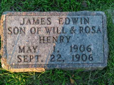 HENRY, JAMES EDWIN - Boone County, Arkansas | JAMES EDWIN HENRY - Arkansas Gravestone Photos