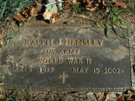 HENSLEY  (VETERAN WWII), RALPH J - Boone County, Arkansas | RALPH J HENSLEY  (VETERAN WWII) - Arkansas Gravestone Photos