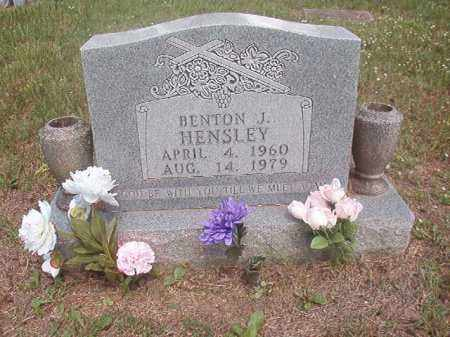 HENSLEY, BENTON  J. - Boone County, Arkansas | BENTON  J. HENSLEY - Arkansas Gravestone Photos