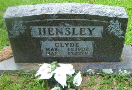 HENSLEY, CLYDE - Boone County, Arkansas | CLYDE HENSLEY - Arkansas Gravestone Photos