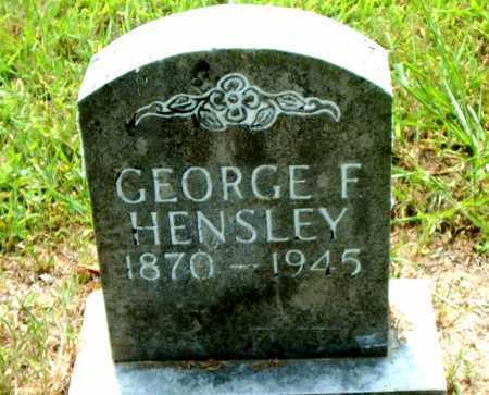 HENSLEY, GEORGE F - Boone County, Arkansas   GEORGE F HENSLEY - Arkansas Gravestone Photos