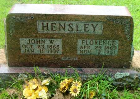 HENSLEY, FLORENCE - Boone County, Arkansas | FLORENCE HENSLEY - Arkansas Gravestone Photos