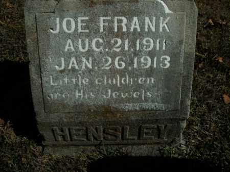 HENSLEY, JOE FRANK - Boone County, Arkansas | JOE FRANK HENSLEY - Arkansas Gravestone Photos