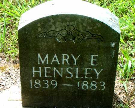HENSLEY, MARY E. - Boone County, Arkansas | MARY E. HENSLEY - Arkansas Gravestone Photos