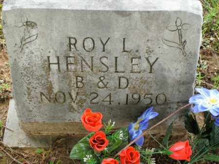 HENSLEY, ROY L. - Boone County, Arkansas | ROY L. HENSLEY - Arkansas Gravestone Photos