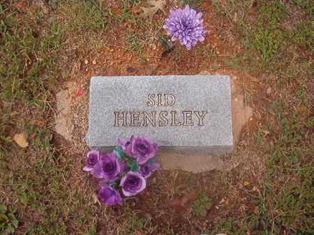 HENSLEY, SID - Boone County, Arkansas | SID HENSLEY - Arkansas Gravestone Photos