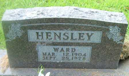 HENSLEY, WARD - Boone County, Arkansas | WARD HENSLEY - Arkansas Gravestone Photos