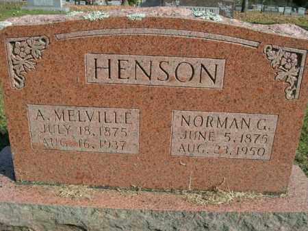 HENSON, A MELVILLE - Boone County, Arkansas | A MELVILLE HENSON - Arkansas Gravestone Photos