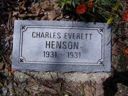 HENSON, CHARLES EVERETT - Boone County, Arkansas | CHARLES EVERETT HENSON - Arkansas Gravestone Photos