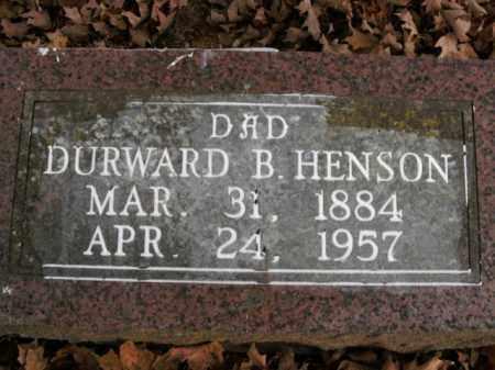 HENSON, DURWARD B. - Boone County, Arkansas | DURWARD B. HENSON - Arkansas Gravestone Photos