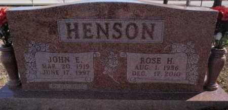 HENSON, JOHN E. - Boone County, Arkansas | JOHN E. HENSON - Arkansas Gravestone Photos