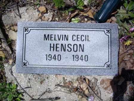 HENSON, MELVIN CECIL - Boone County, Arkansas   MELVIN CECIL HENSON - Arkansas Gravestone Photos