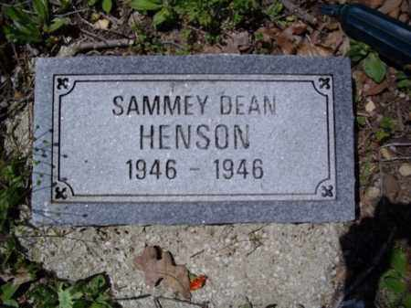 HENSON, SAMMEY DEAN - Boone County, Arkansas | SAMMEY DEAN HENSON - Arkansas Gravestone Photos
