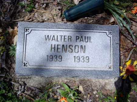 HENSON, WALTER PAUL - Boone County, Arkansas | WALTER PAUL HENSON - Arkansas Gravestone Photos