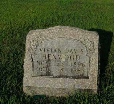 DAVIS HENWOOD, VIVIAN - Boone County, Arkansas | VIVIAN DAVIS HENWOOD - Arkansas Gravestone Photos