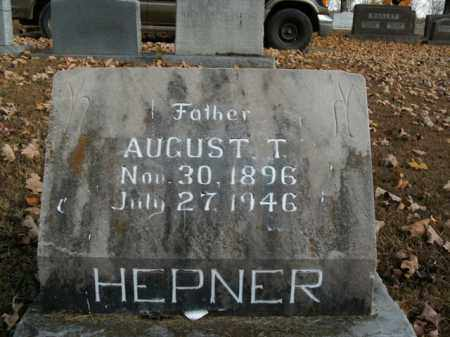 HEPNER, AUGUST T. - Boone County, Arkansas | AUGUST T. HEPNER - Arkansas Gravestone Photos