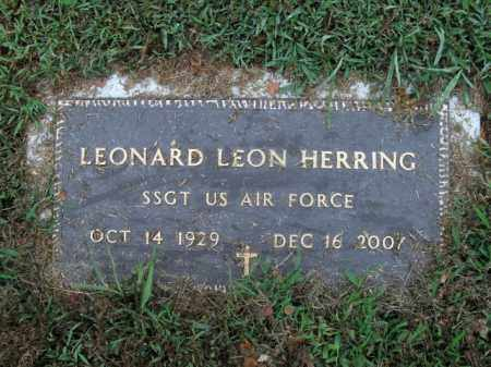 HERRING  (VETERAN), LEONARD LEON - Boone County, Arkansas | LEONARD LEON HERRING  (VETERAN) - Arkansas Gravestone Photos