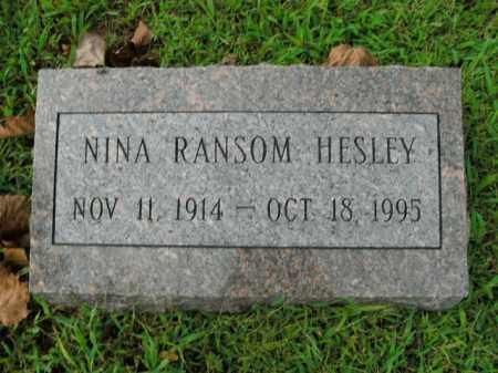 HESLEY, NINA RANSOM - Boone County, Arkansas | NINA RANSOM HESLEY - Arkansas Gravestone Photos