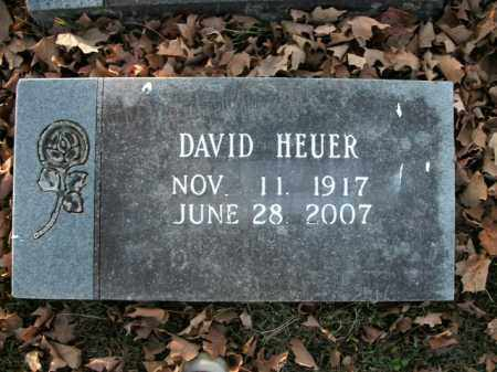HEUER, DAVID - Boone County, Arkansas | DAVID HEUER - Arkansas Gravestone Photos