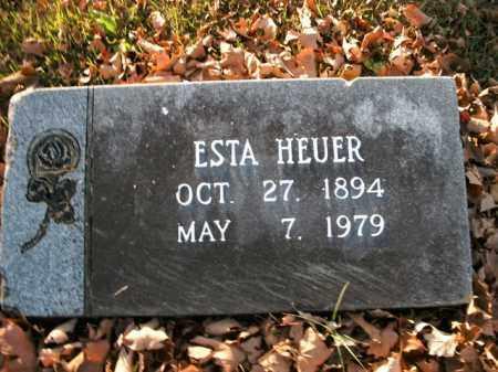 RIGGS HEUER, ESTA - Boone County, Arkansas | ESTA RIGGS HEUER - Arkansas Gravestone Photos