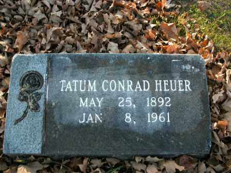 HEUER, TATUM CONRAD - Boone County, Arkansas   TATUM CONRAD HEUER - Arkansas Gravestone Photos