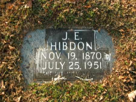 HIBDON, J.E. - Boone County, Arkansas | J.E. HIBDON - Arkansas Gravestone Photos