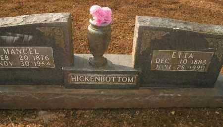 HICKENBOTTOM, ETTA MARINA - Boone County, Arkansas | ETTA MARINA HICKENBOTTOM - Arkansas Gravestone Photos