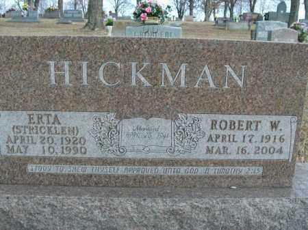 HICKMAN, ERTA - Boone County, Arkansas | ERTA HICKMAN - Arkansas Gravestone Photos