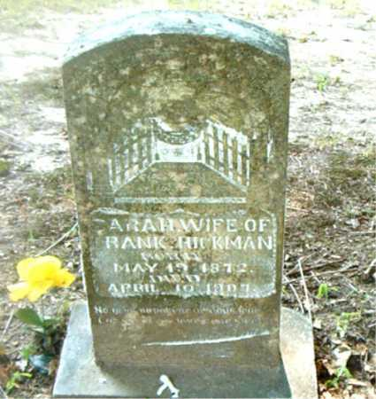 HICKMAN, SARAH - Boone County, Arkansas | SARAH HICKMAN - Arkansas Gravestone Photos