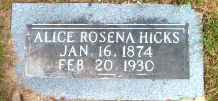 HICKS, ALICE ROSENA - Boone County, Arkansas | ALICE ROSENA HICKS - Arkansas Gravestone Photos