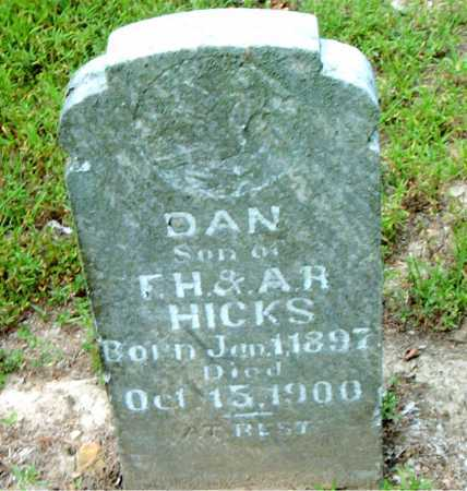 HICKS, DAN - Boone County, Arkansas | DAN HICKS - Arkansas Gravestone Photos