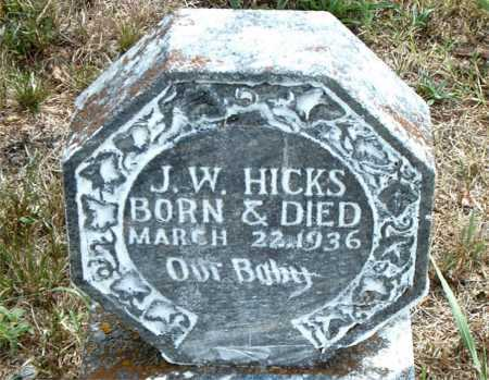 HICKS, J.W. - Boone County, Arkansas | J.W. HICKS - Arkansas Gravestone Photos
