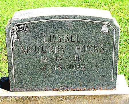 MCCURRY HICKS, LILYBEL - Boone County, Arkansas | LILYBEL MCCURRY HICKS - Arkansas Gravestone Photos