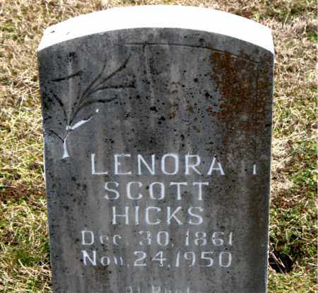 SCOTT HICKS, LENORA - Boone County, Arkansas | LENORA SCOTT HICKS - Arkansas Gravestone Photos