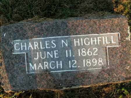 HIGHFILL, CHARLES N. - Boone County, Arkansas | CHARLES N. HIGHFILL - Arkansas Gravestone Photos