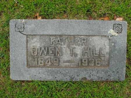 HILL, OWEN T. - Boone County, Arkansas   OWEN T. HILL - Arkansas Gravestone Photos