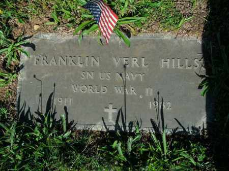 HILLS  (VETERAN WWII), FRANKLIN VERL - Boone County, Arkansas | FRANKLIN VERL HILLS  (VETERAN WWII) - Arkansas Gravestone Photos