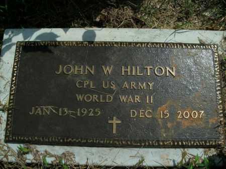 HILTON  (VETERAN WWII), JOHN W. - Boone County, Arkansas | JOHN W. HILTON  (VETERAN WWII) - Arkansas Gravestone Photos