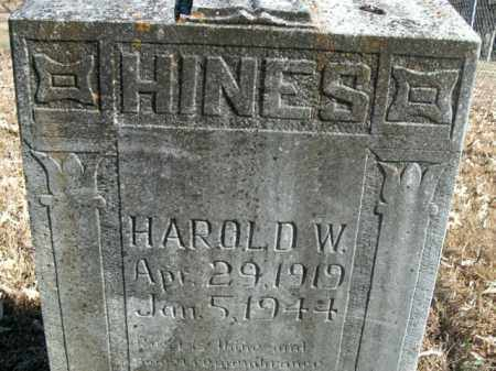 HINES, HAROLD W. - Boone County, Arkansas | HAROLD W. HINES - Arkansas Gravestone Photos