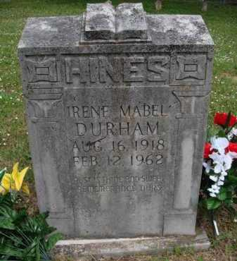 DURHAM, IRENE MABEL - Boone County, Arkansas | IRENE MABEL DURHAM - Arkansas Gravestone Photos