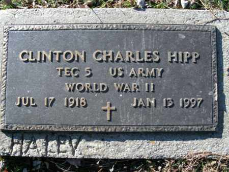 HIPP  (VETERAN WWII), CLINTON CHARLES - Boone County, Arkansas | CLINTON CHARLES HIPP  (VETERAN WWII) - Arkansas Gravestone Photos