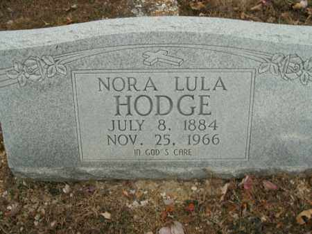 HODGE, NORA LULA - Boone County, Arkansas | NORA LULA HODGE - Arkansas Gravestone Photos